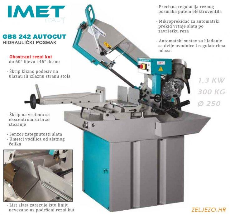 Stroj za rezanje metala, tračna pila Imet GBS 242 GH