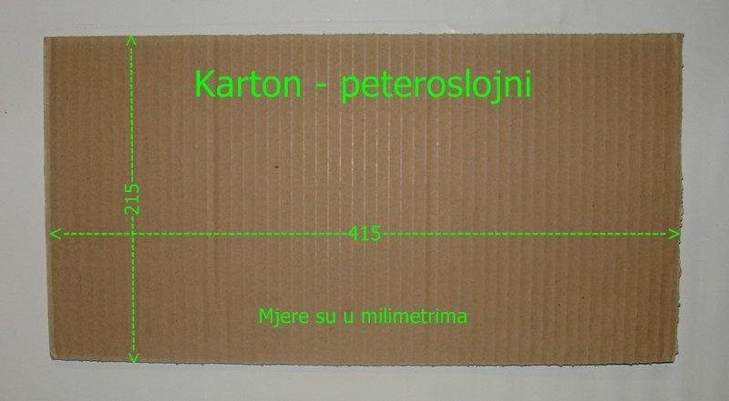 Kartonske ploče – 415 mm x 215 mm – 1 000 komada