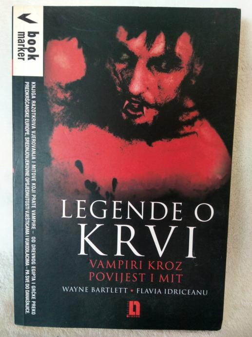 Bartlett, Idriceanu: Legende o krvi - Vampiri kroz povijest i mit
