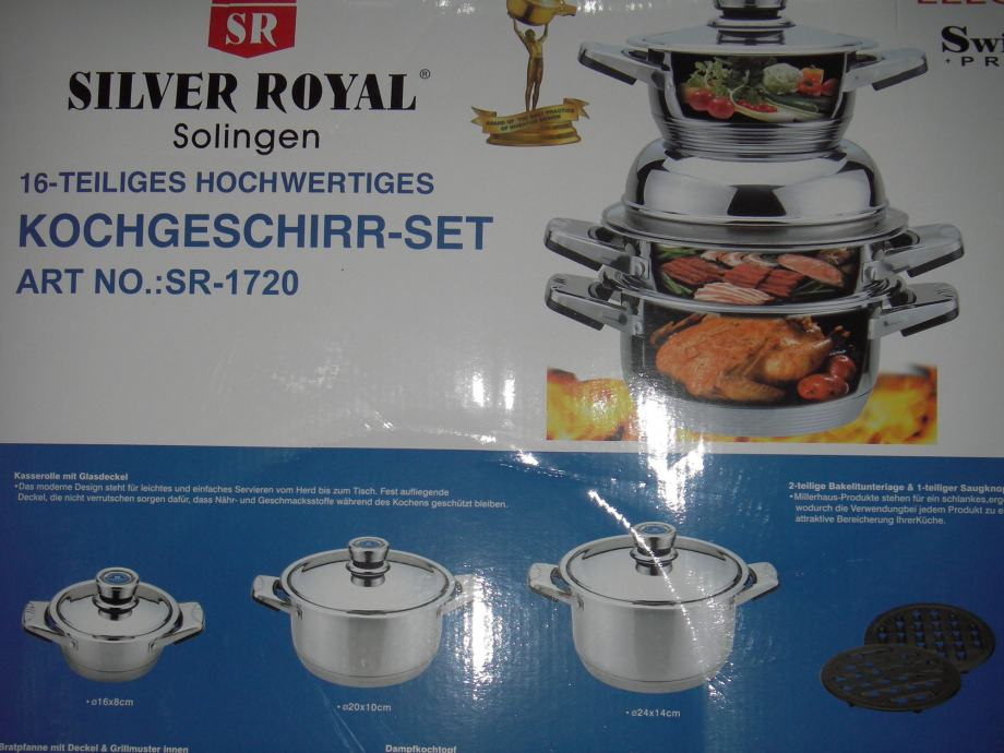 ***NOVO***ZAPAKIRANO*** SILVER ROYAL SOLINGEN SET