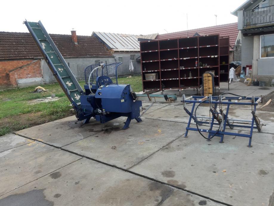 linija  za  rezanje  i  cjepanje  drva  tajfun  ,rca 320 ,  prodajem