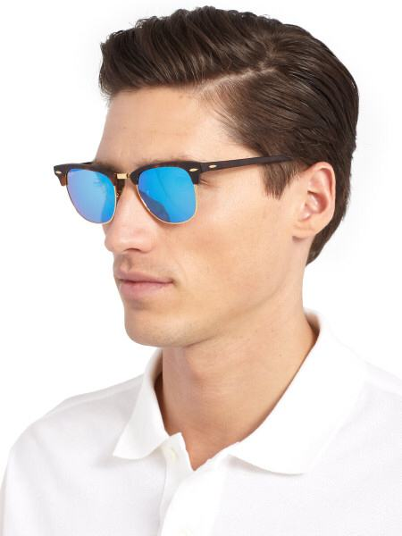 ray ban clubmaster blue mirror - Holly's Restaurant and Pub