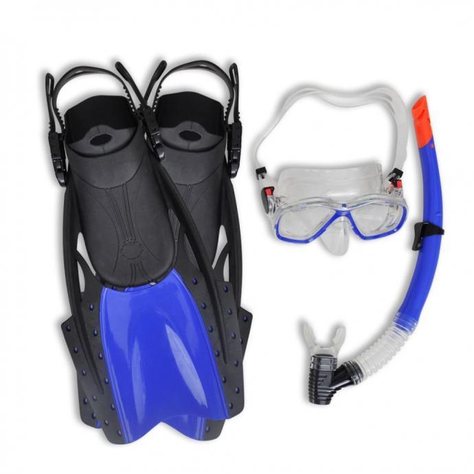 Ronjenje postavite snorkel peraja lens plava boja za odrasle 38-41 - N