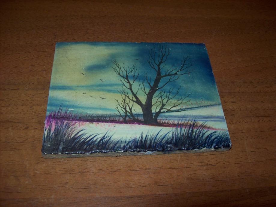 Slika - Minijatura - ulje na drvetu