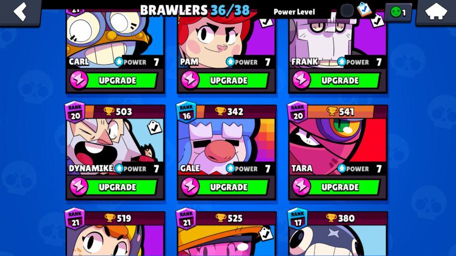Brawl stars account, clash royale i clash of clans