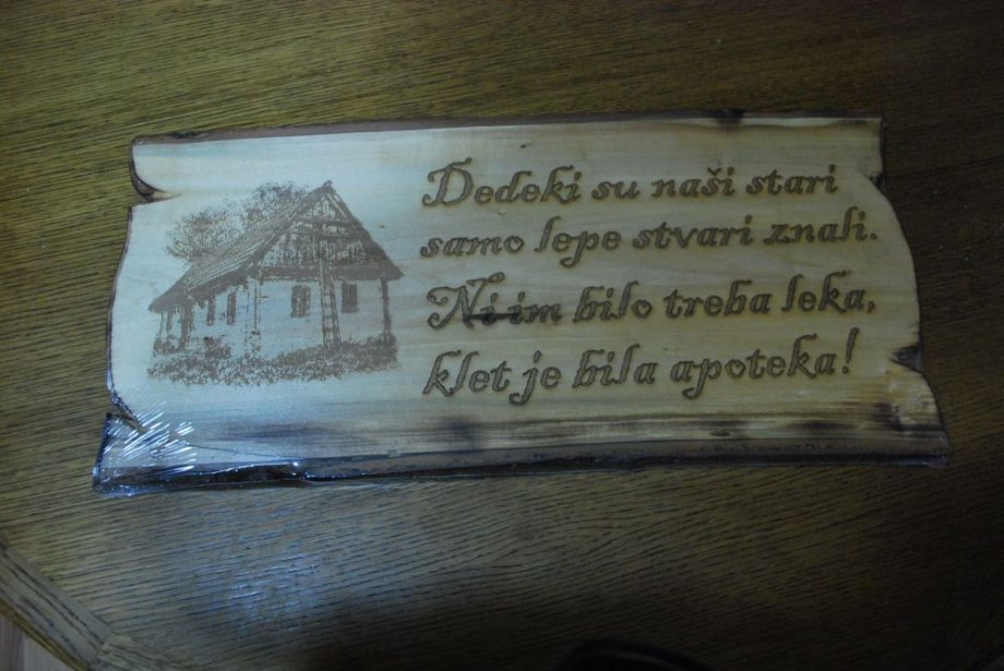 natpisi za rođendan Drveni gravirani natpisi, poklon natpisi za klet, rođendan i drugo natpisi za rođendan
