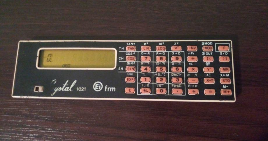 Kalkulator digitron EI Elektronska industrija Niš Crystal 1021 vintage