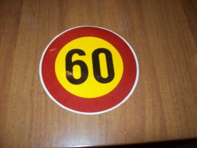 Naljepnica, Ograničenje brzine 60