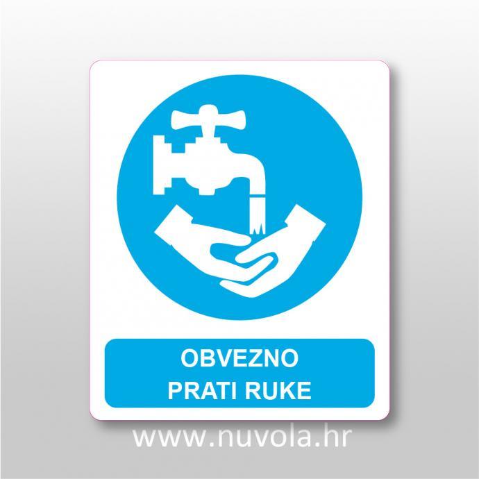 Naljepnica, znak, oznaka - Obvezno prati ruke