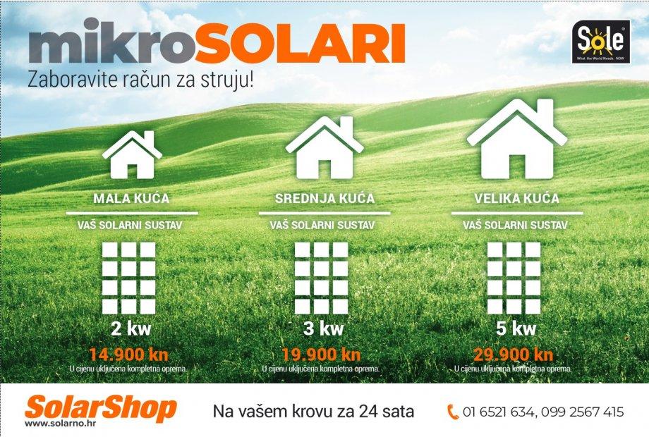 MIKROSOLARI - Solarna elektrana 3KW od 19900kn