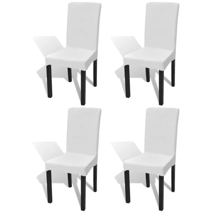 Rastezljive navlake za stolice 4 kom Bijela boja - NOVO