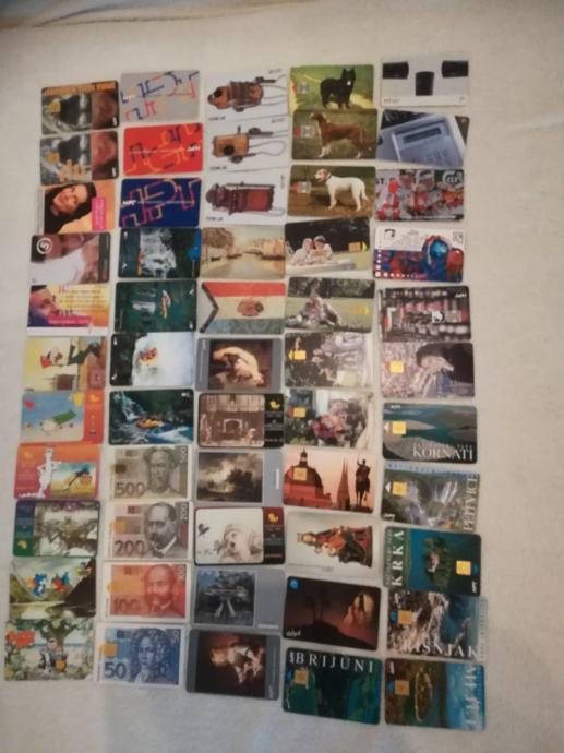 Telefonske kartice nase i strane