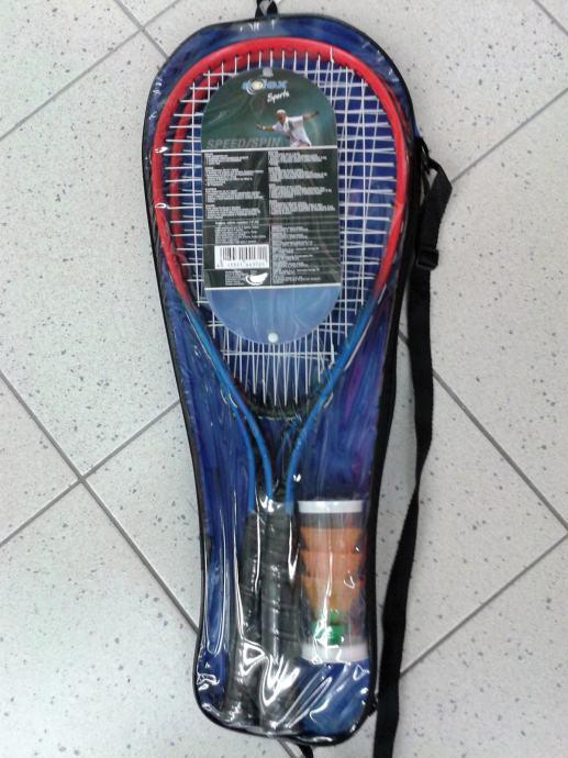 Reketi za speed badminton, dva komada s lopticama, novo ...