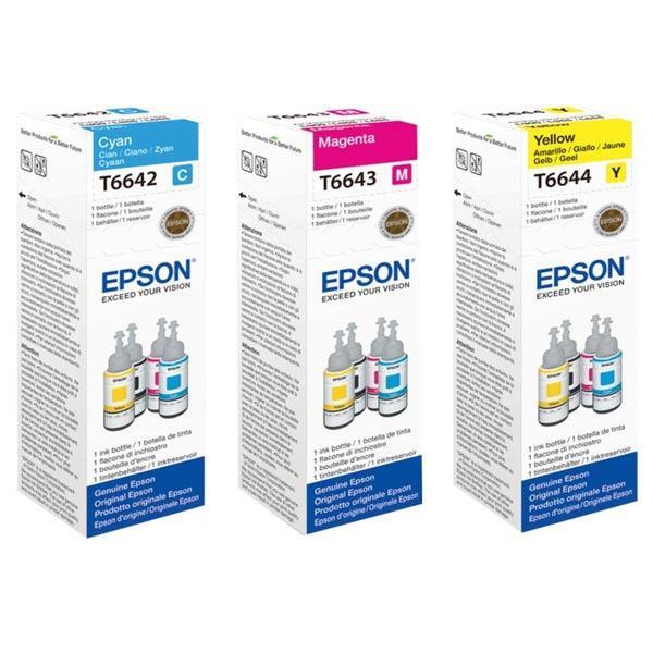 INK JET TINTA EPSON T66424/434/444 C/M/Y ORIGINAL