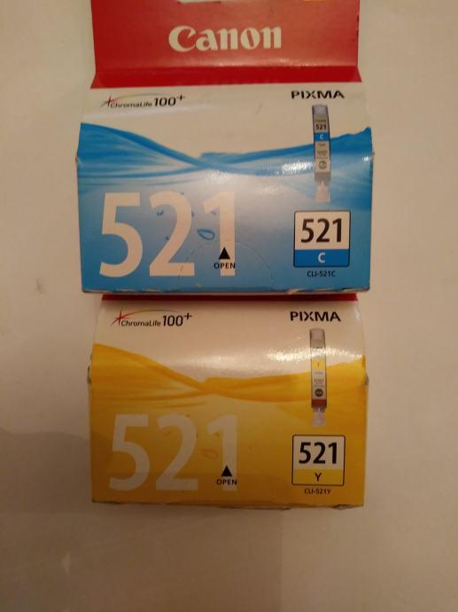 Tinta Canon CLI-521Bk , CLI-521Y, CLI-521C