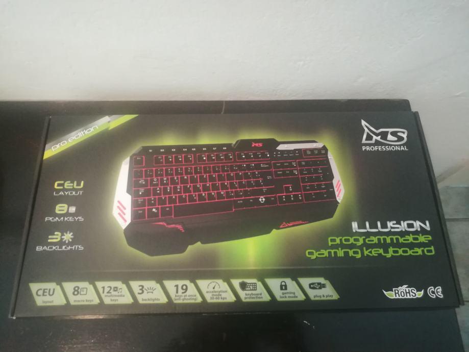 MS ILLUSION PRO gaming keyboard