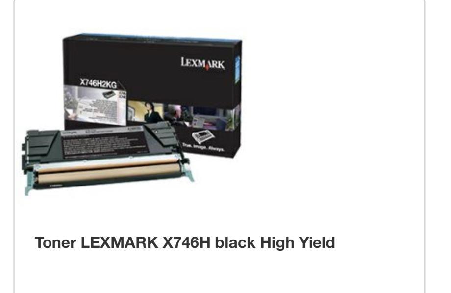 Toner Lexmark 746 de ORIGINAL nov zapakiran! Super povoljno!!