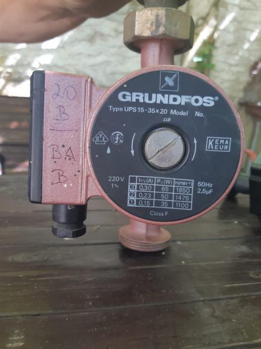 Grundfos pumpa za centralno, 3 brzine