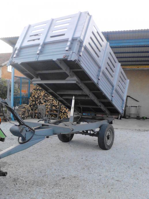 Traktorska PRIKOLICA IMT jednoosovinka - kiperica