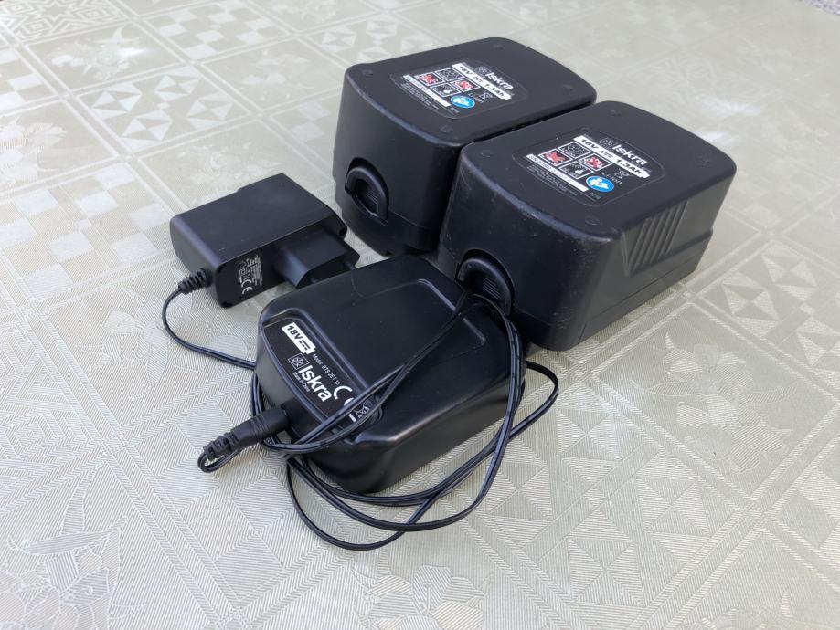 Baterije 2 kom i punjac za trimer Iskra     ET-D1802