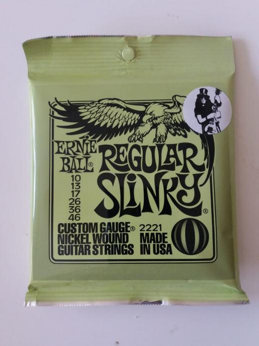 Zice za elektricnu gitaru Ernie Ball Regular Slinky 10-46