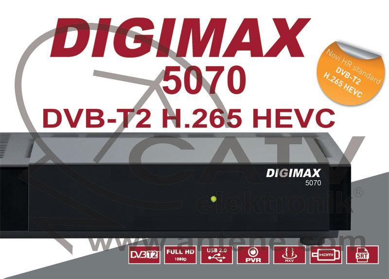 Digimax 5070 DVBT/T2 HD HEVC H.265 HD zemaljski prijemnik