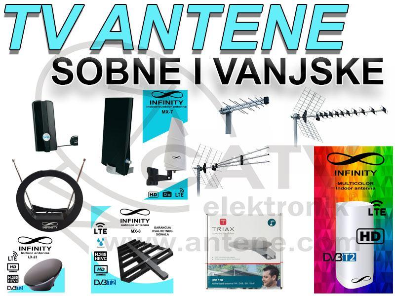 ANTENA / ANTENE / TV / SOBNA / VANJSKA / UHF / DVBT / DVB-T2