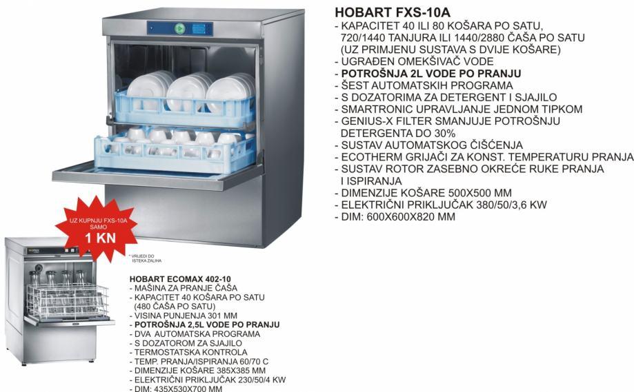 PERILICA POSUĐA HOBART FXS-10A I PERILICA ČAŠA ECOMAX 402