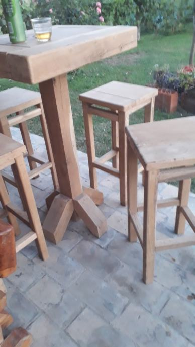 Barski stol i stolice