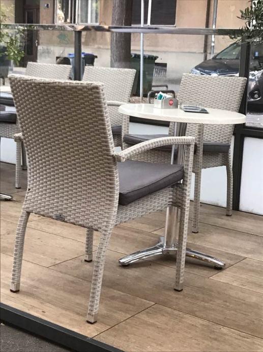 Stolovi + stolice ratan za terasu bijele
