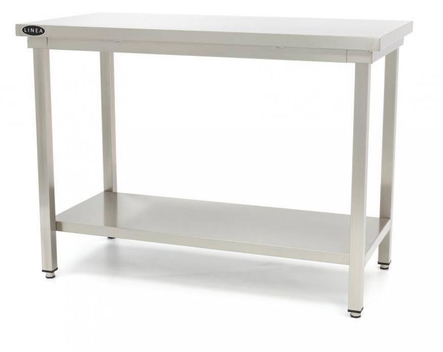 Inox radni stol, sa policom, bez zaštite zida, 1000x600mm AKCIJA!