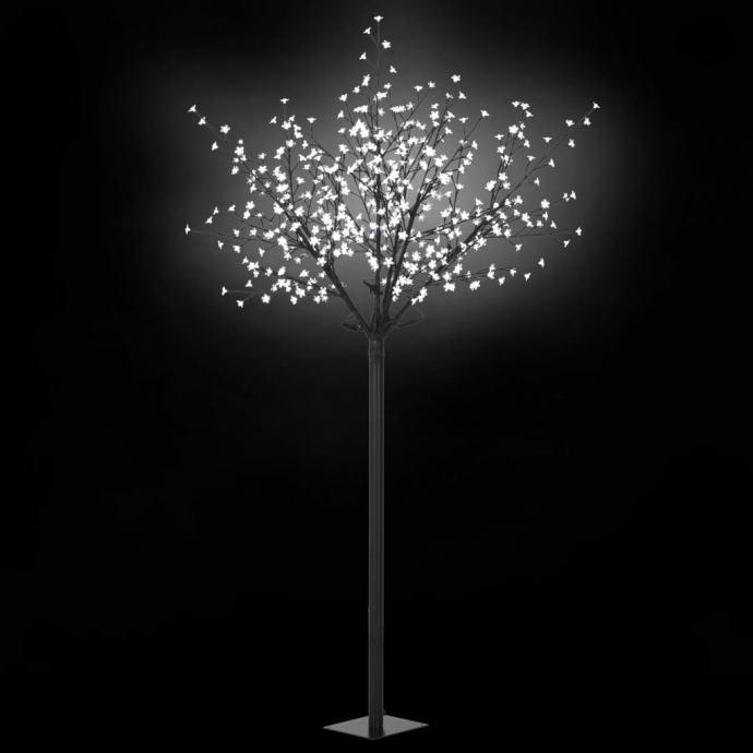 Božićno drvo s LED žaruljama u obliku cvijeta IP44 250 cm bijelo  NOVO