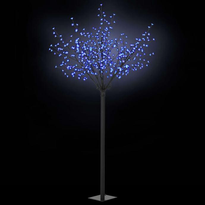 Božićno drvo s LED žaruljama u obliku cvijeta IP44 250 cm plavo - NOVO