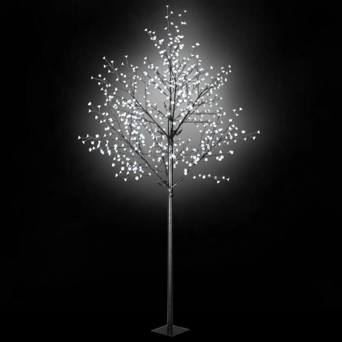 Božićno drvo s LED žaruljama u obliku cvijeta IP44 300 cm bijelo NOVO