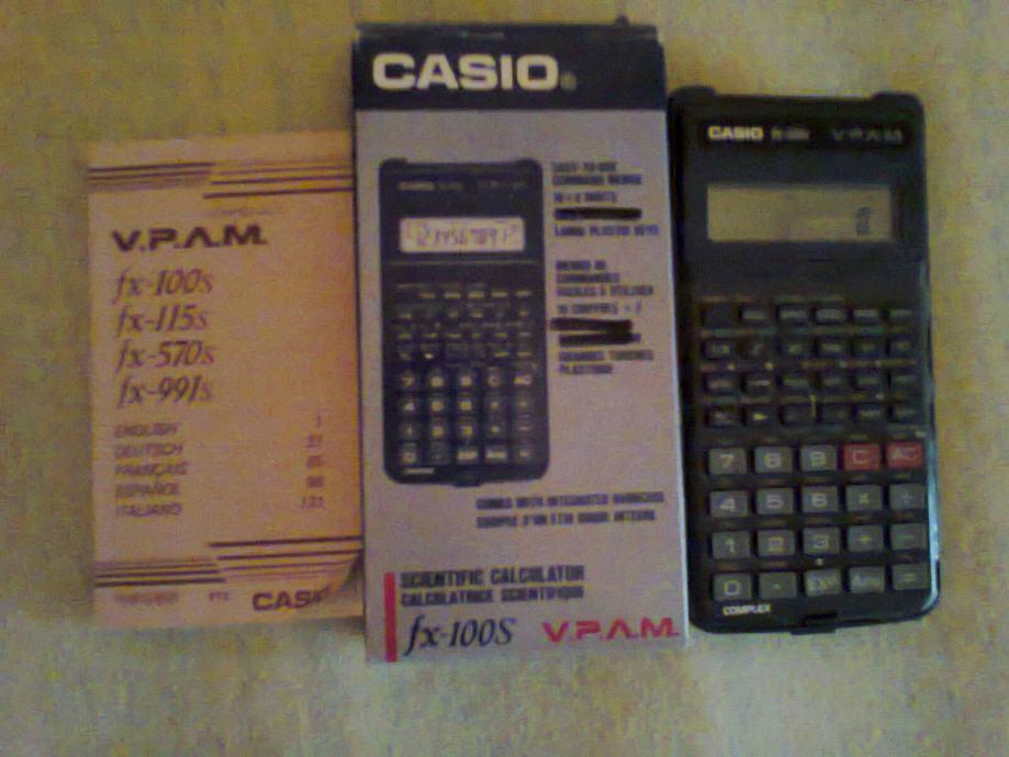 casio fx100s scientific calculator znanstveni kalkulator digitron