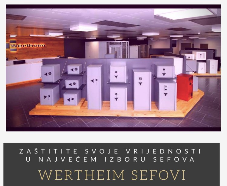 Najveći izbor sefova i trezora - Wertheim sefovi: Sefovi.hr