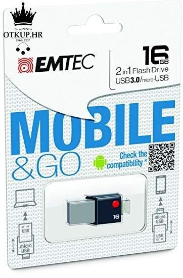 EMTEC MOBILE & GO 2 16.gb USB 3.0, NOVO, R1, RATE, POVOLJNO!