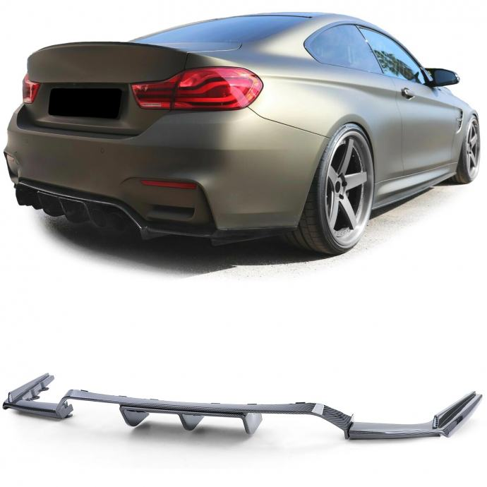 BMW M3 F80 M4 F82 F83 2014- spojler difuzor carbon optic
