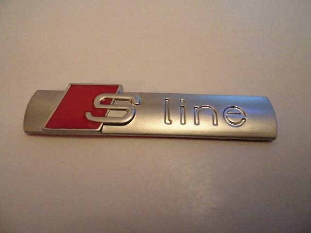s line logo emblem naljepnica original audi s line zg. Black Bedroom Furniture Sets. Home Design Ideas