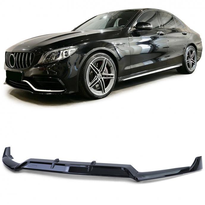 Mercedes C-Klasa W205 S205 C205 prednji spojler lip crni sjajni za AMG