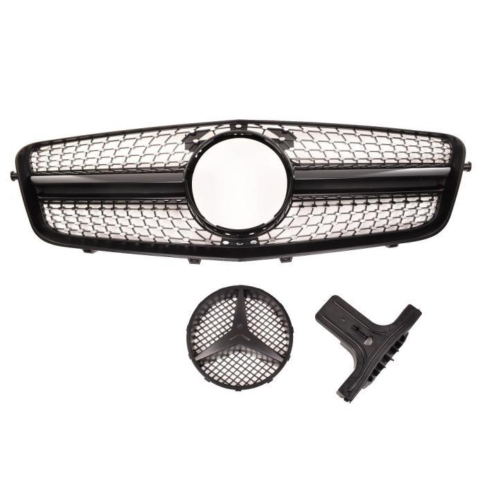 Mercedes E klasa W212 09-13 Diamond maska crna sjajna