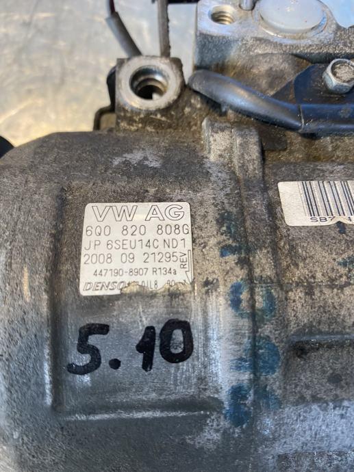 KOMPRESOR KLIME VW, SEAT, ŠKODA OE 6Q0820808G, naš br.5.10