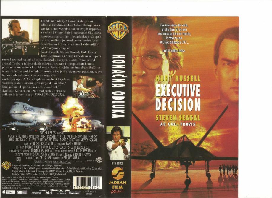 FILM - KONAČNA ODLUKA - VHS