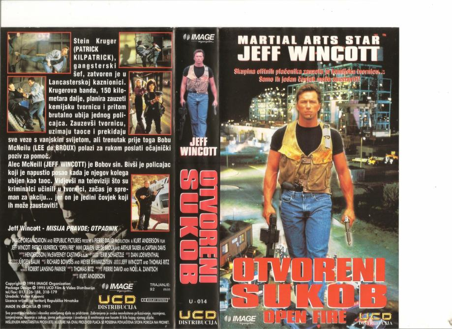 FILM - OTVORENI SUKOB - VHS