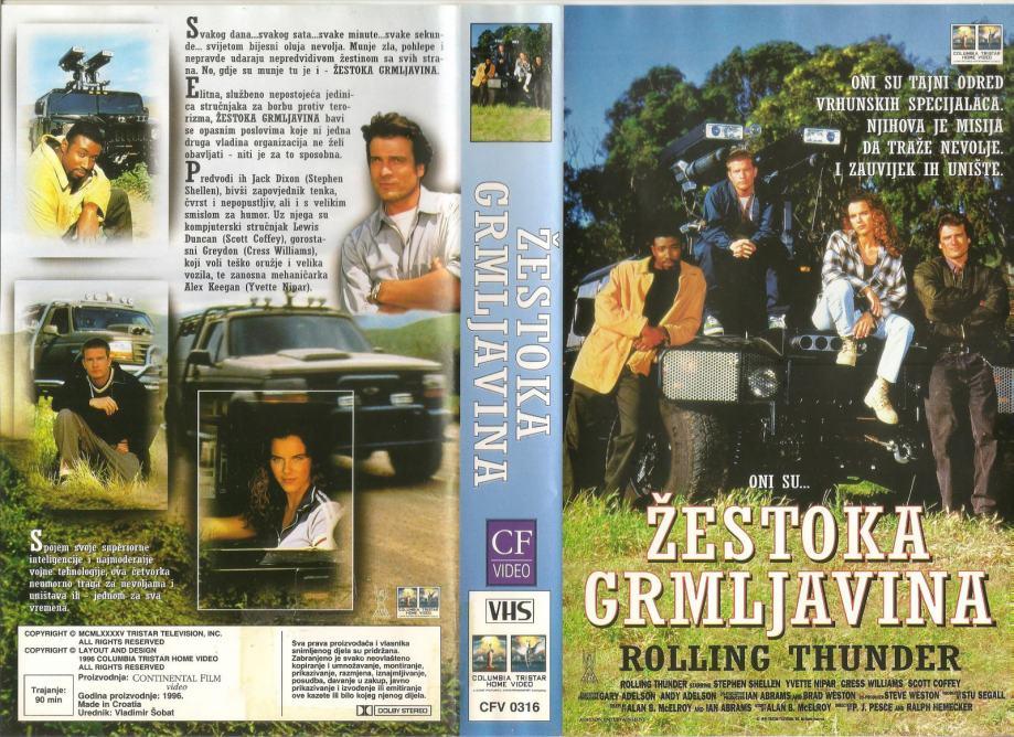 FILM - ŽESTOKA GRMLJAVINA - VHS