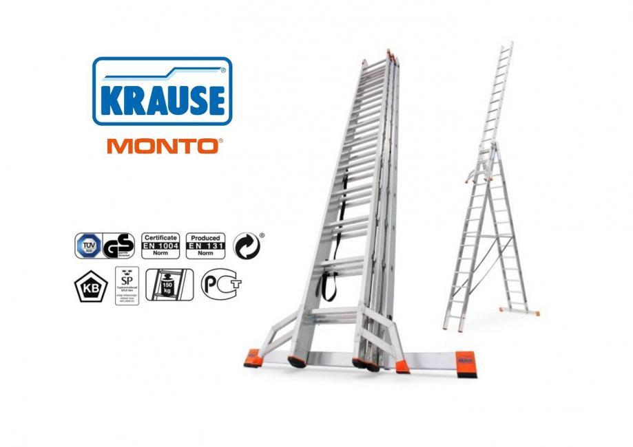 Aluminijske ljestve 3x14 gazišta Krause PROFI do 10,25 m ***NOVO***