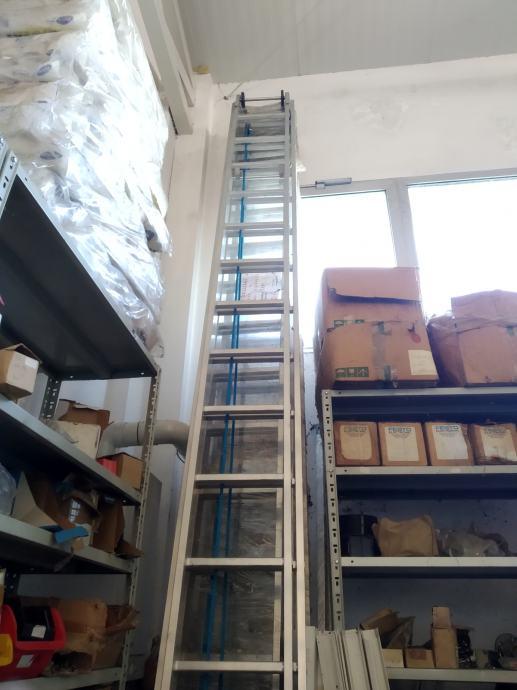 Ljestve aluminijske dvodijelne 9 metara NOVO