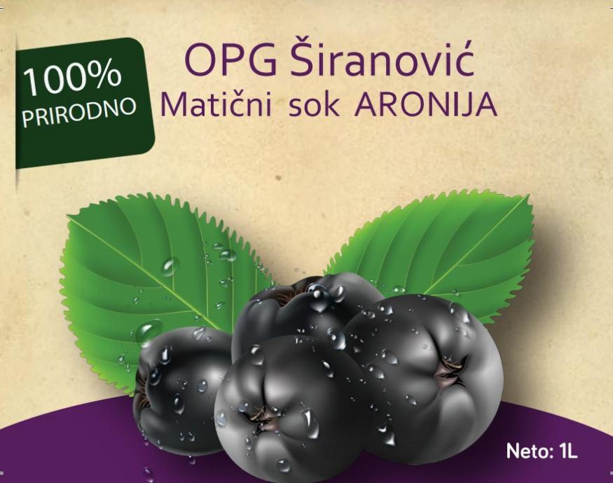 ARONIJA MATIČNI SOK - plantaža Stupnik-
