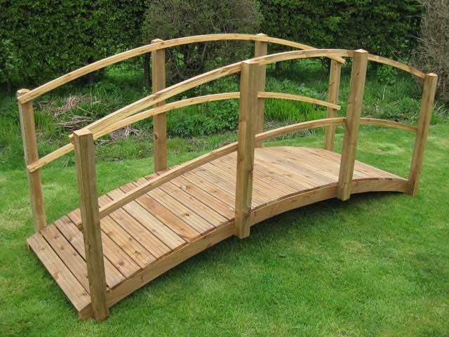 Drveni most za vrt dekorativni 320x90cm