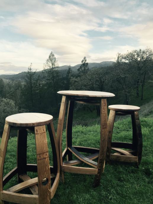 Stol i stolice - izrađen od stare bačve * RUČNI RAD* RUSTIKALNI STIL